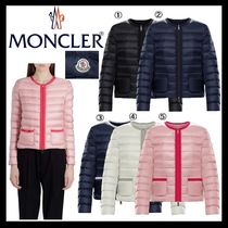 MONCLER Short Nylon Street Style Plain Down Jackets