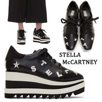 Stella McCartney Star Square Toe Platform Lace-up Casual Style Faux Fur