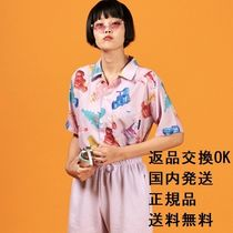 A PIECE OF CAKE Tropical Patterns Casual Style Unisex Street Style Medium