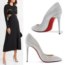 Christian Louboutin Pigalle Follies Plain Leather Pin Heels Elegant Style Stiletto Pumps & Mules