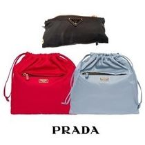 PRADA Casual Style Nylon Plain Purses Bucket Bags