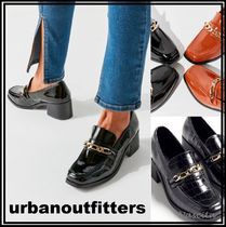 Urban Outfitters Square Toe Unisex Faux Fur Street Style Chain Plain