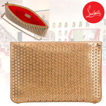 Christian Louboutin 2WAY Chain Plain Leather Party Style Clutches