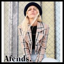 AFENDS Short Glen Patterns Casual Style Street Style Long Sleeves