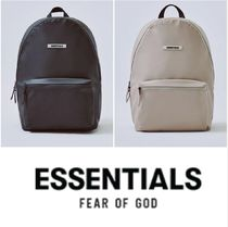 FEAR OF GOD ESSENTIALS Unisex Street Style A4 Plain Backpacks