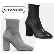 Coach Leather High Heel Boots