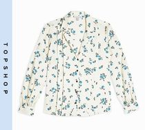 TOPSHOP Flower Patterns Long Sleeves Shirts & Blouses