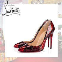 Christian Louboutin Other Animal Patterns Leather Pin Heels Elegant Style