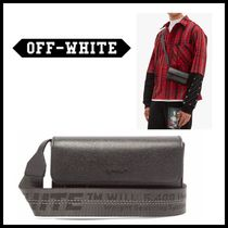 Off-White Saffiano Street Style Messenger & Shoulder Bags