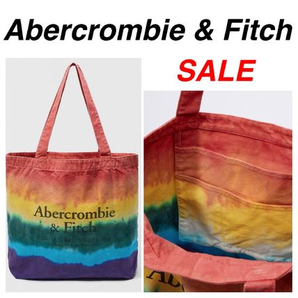 Casual Style Unisex Canvas Street Style Tie-dye Totes