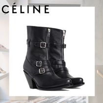 CELINE Casual Style Street Style High Heel Boots