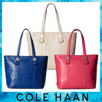 Cole Haan A4 Plain Leather Elegant Style Totes