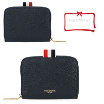 THOM BROWNE Plain Leather Coin Purses