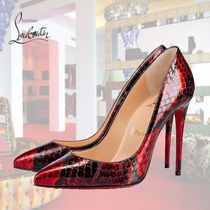 Christian Louboutin Pigalle Follies Other Animal Patterns Leather Pin Heels Elegant Style