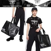 BOY LONDON Casual Style A4 PVC Clothing Totes