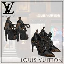 Louis Vuitton Monogram Leather Pin Heels Pointed Toe Pumps & Mules