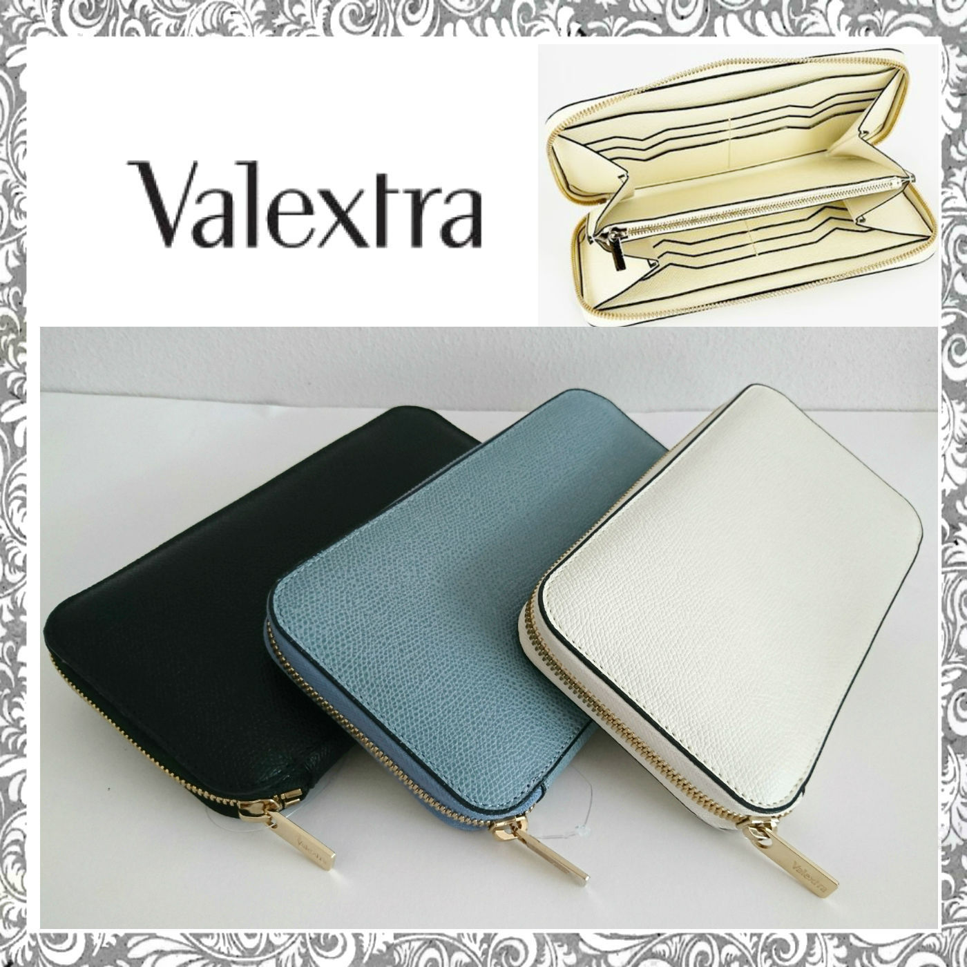 shop valextra wallets & card holders
