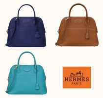 HERMES Bolide Leather Totes