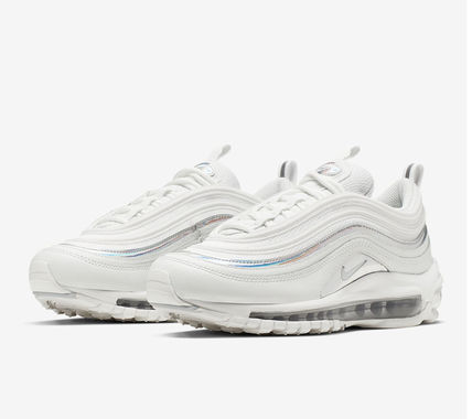 Nike AIR MAX 97 2019 SS Round Toe Lace up Casual Style Street Style Plain Leather (CJ9706 100)