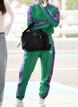 adidas Flower Patterns Casual Style Street Style Logo Pants