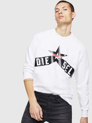 DIESEL Sweatshirts Crew Neck Pullovers Street Style Long Sleeves Cotton 4