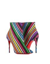 Christian Louboutin Stripes Pin Heels Ankle & Booties Boots
