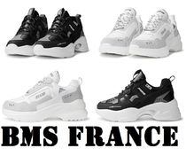 BMS FRANCE Unisex Street Style Plain Low-Top Sneakers