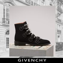 GIVENCHY Suede Studded Plain Ankle & Booties Boots