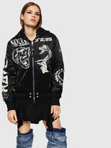 DIESEL Casual Style Street Style Other Animal Patterns Medium MA-1
