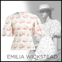 EMILIA WICKSTEAD Cotton Elegant Style Puff Sleeves Shirts & Blouses
