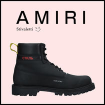 AMIRI Mountain Boots Plain Leather Outdoor Boots