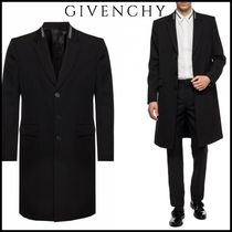 GIVENCHY Wool Plain Chester Coats