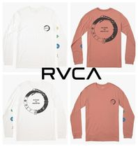 RVCA Crew Neck Long Sleeves Cotton Python Logos on the Sleeves