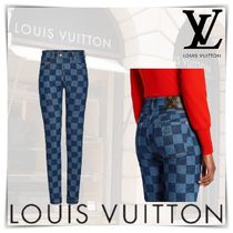 Louis Vuitton Other Check Patterns Monogram Casual Style Blended Fabrics
