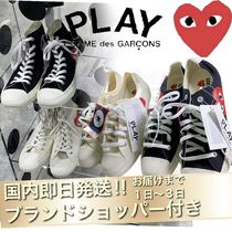 COMME des GARCONS Heart Casual Style Unisex Street Style Low-Top Sneakers