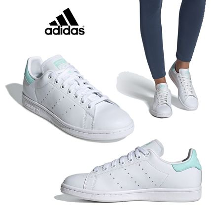 new arrival ad73a 71e3a adidas STAN SMITH 2019 SS Rubber Sole Blended Fabrics Street Style Plain  Leather (EF9318)