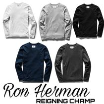 Ron Herman Crew Neck Pullovers Street Style Long Sleeves Plain Cotton