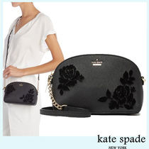 kate spade new york CAMERON STREET Flower Patterns Faux Fur Party Style Shoulder Bags