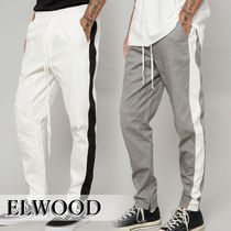 ELWOOD Tapered Pants Stripes Street Style Plain Tapered Pants