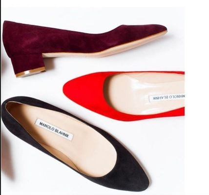 Casual Style Suede Plain Office Style Formal Style  Flats