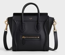 CELINE Luggage 2WAY Leather Shoulder Bags