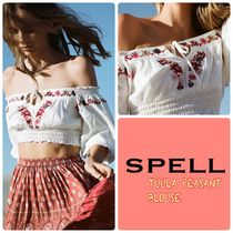 SPELL Flower Patterns Cotton Shirts & Blouses