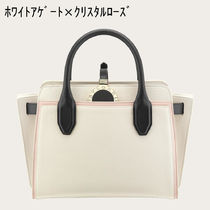 Bvlgari Casual Style 2WAY Plain Leather Totes