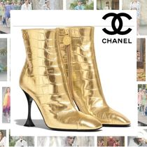 CHANEL Other Animal Patterns Leather Pin Heels Party Style