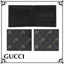 GUCCI Gucci Ghost Unisex Leather Folding Wallets