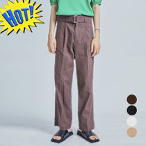 OPEN THE DOOR Slax Pants Unisex Linen Street Style Plain Slacks Pants