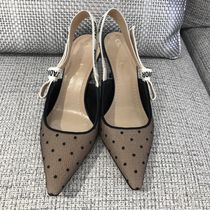 Christian Dior Dots Pointed Toe Pumps & Mules
