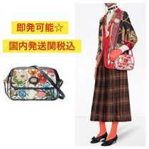 GUCCI Flower Patterns Casual Style Canvas Street Style Bi-color