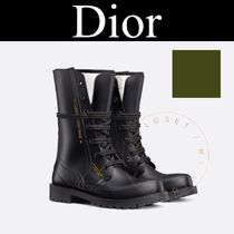 Christian Dior Wedge Plain Toe Mountain Boots Street Style Plain Handmade