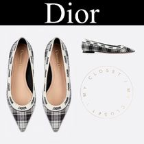 Christian Dior JADIOR Other Check Patterns Wedge Street Style Handmade
